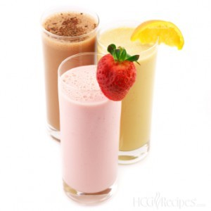 HCG Diet Shakes with Chocolate, Strawberry, and Orange