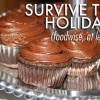 Healthy Holidays Program Diet Tips Survive the Holidays Eat Healthy Chocolate Cupcakes on Silver Tray
