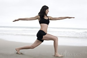 Best Exercise on HCG Phase 2 Woman doing yoga on the Beach