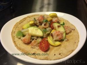 Langostino Tacos Recipe Phase 4 Recipe Taco on plate with veggies