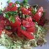 HCG Phase 3 Guacamole Recipe with tomatoes and jalapeños in bowl
