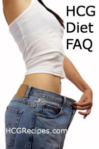 HCG Diet FAQ and Questions Weight Loss Photo Slim Girl in Fat Jeans