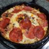 Pepperoni Pizza Frittata Recipe for HCG Phase 3 in cast iron skillet